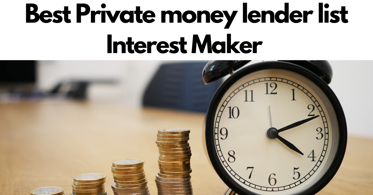 Private money lender list