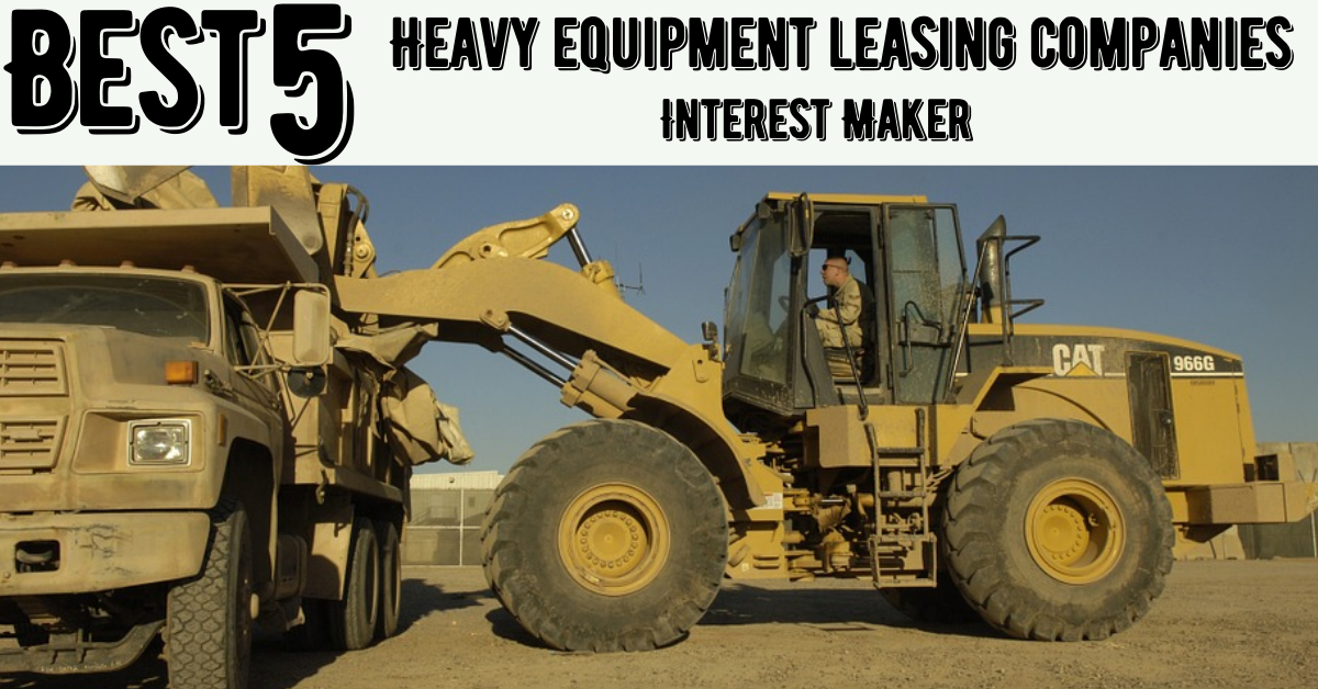 Heavy equipment leasing companies
