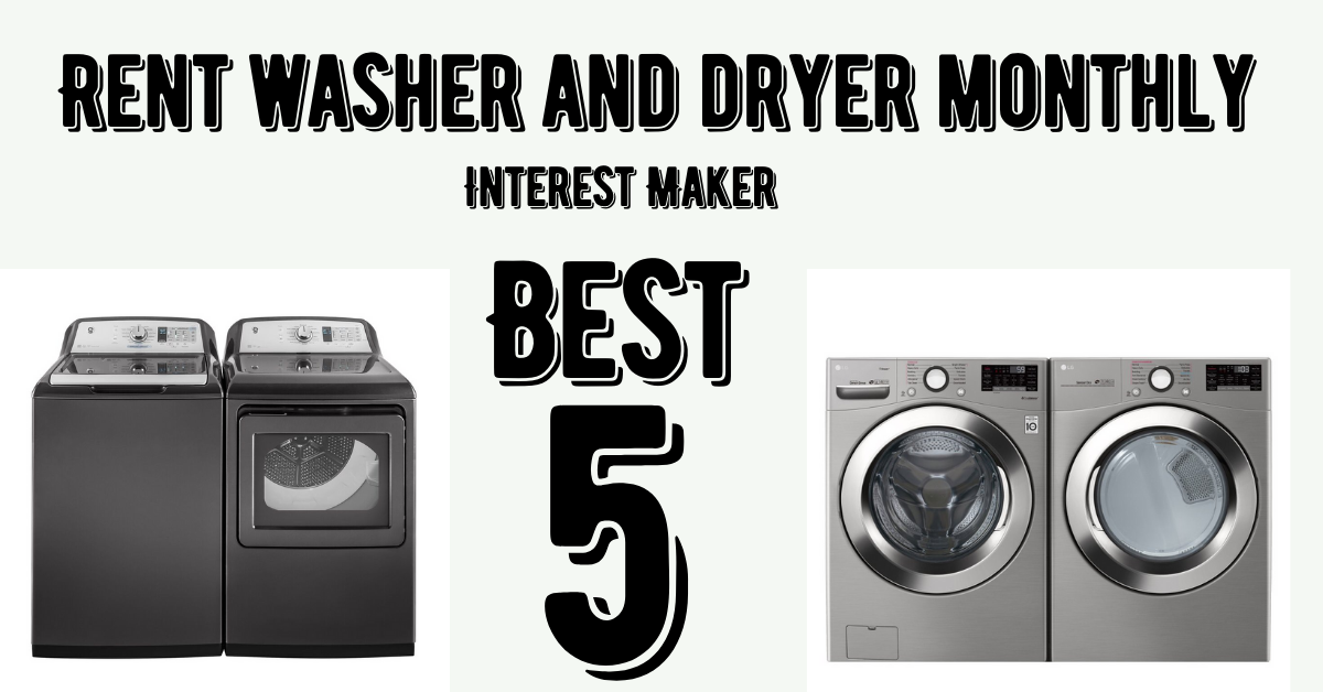 Rent washer and dryer monthly