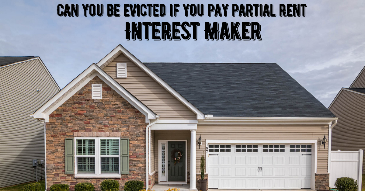Can you be evicted if you pay partial rent
