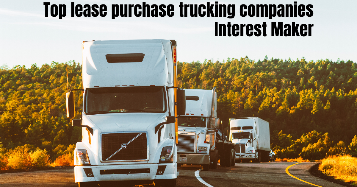 top lease purchase trucking companies