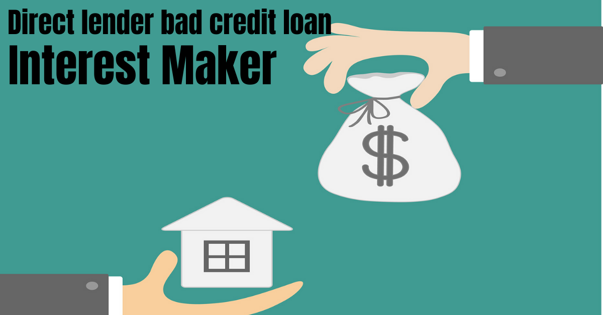 Direct lender bad credit loan