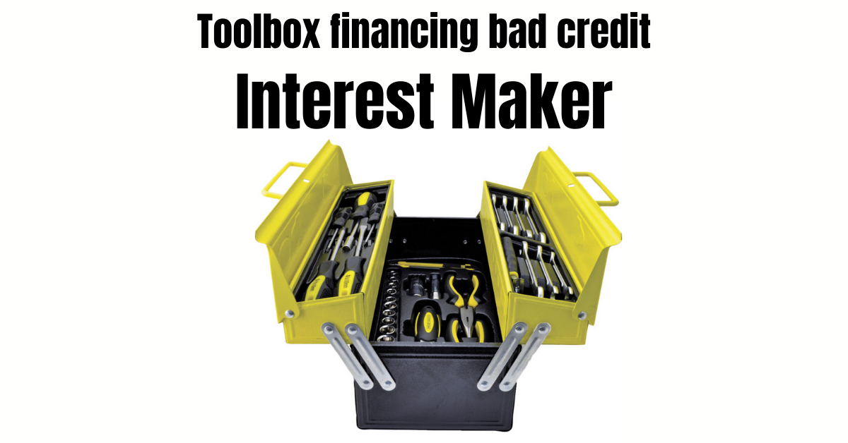 Toolbox financing bad credit