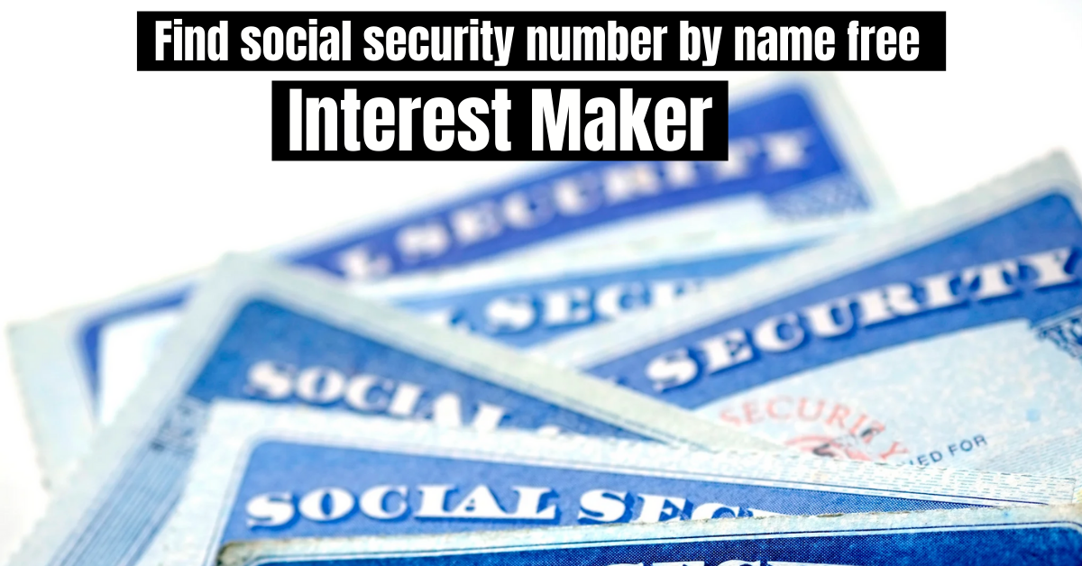 Find social security number by name free