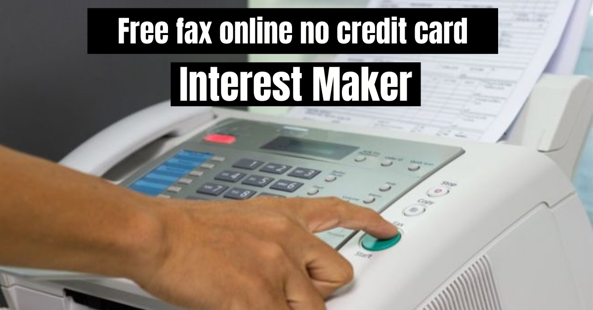 Free fax online no credit card