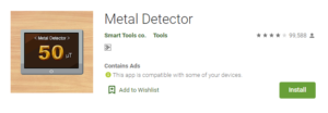 metal detector app android