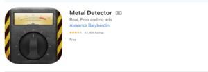 metal detector app iphone