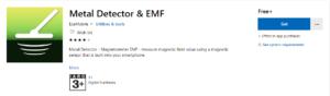 metal detector app for microsoft